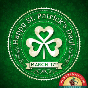Celebrate St. Patrick's Day With Green Cigars, Peterson Pipes From Ireland, Zippos and Shamrocks